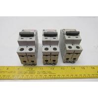 Cutler Hammer WMS2C03 3A Circuit Breaker 2-Pole 277/415VAC DIN Rail Lot of 3