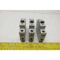 Cutler Hammer C4 WMS1C04 4A Circuit Breaker 1-Pole 120/277VAC DIN Rail Lot of 3