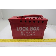 Brady Red Metal Group Lockout Box 7 Locks Max