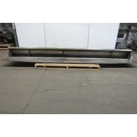 """14' L 11"""" Wide Stainless Steel Trough Process Overflow Liquid Conveying W/ Lid"""