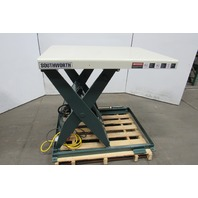 "Southworth LS2-36 2000Lb Hydraulic Scissor Lift Table 48x36"" Top 7-43"" Lift 115V"