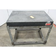 "36"" x 24"" x 4"" x 31""High Black Granite Surface Inspection Plate W/Stand AS IS"