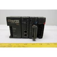 Direct LOGIC 205 3 Slot PLC w/ DL240 CPU D2-16NA D2-08TR Automation Direct