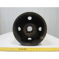 "13F623 Vintage 13"" OD x 6"" Wide Flat Belt Drive Pulley 2-3/4"" Bore"