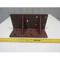 "15-3/4"" x 6"" Tall 3/4"" Thick Webbed Angle Machine Support Set Up Block"