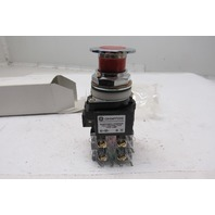 General Electric Cr1040PTY210322 Red Mushroom Push/Pull Switch 2 Position Maint.