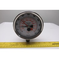 "NoShok 3-1/2"" Liquid-Filled Pressure Gauge 0-5000PSI 0-22000 Newtons Adjustable"