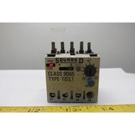 Square D 9065 TD3,7 Overload Relay 3.7-5.5 Amps 660 V Range