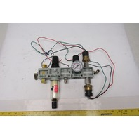 "Numatics VS14-02, P14B-02, R14R-02 Pneumatic Air Filter Regulator Assembly 1/4"""