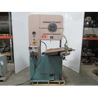 DoAll V26 Industrial Vertical Bandsaw Hydraulic Feed 460V 3Ph Broken Table