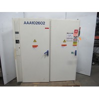 "78x71x16"" 2 Door Electrical Enclosure Free Standing W/Back Plate & 100A Disc."