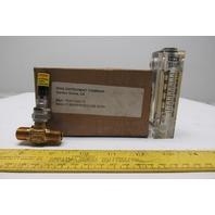 "King instrument Company 75201102C13 Flow Meter 2""/BR/EPR/Nov/100 SCFH"