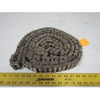 RS60 12' Double Strand Rivet Roller Chain Nickel Plate
