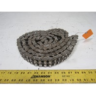 RS60 8' Double Strand Rivet Roller Chain Nickel Plate