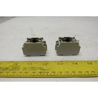 Fuji SZ-A11/T Auxiliary Contact Block Lot of 2