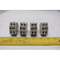 Fuji SZ-A20T Auxiliary Contact Block Lot of 4