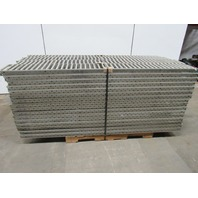 "85-3/4""Lx 8""BF Galvanized Gravity Roller Carton Conveyor 3/4"" Rollers Lot of 64"