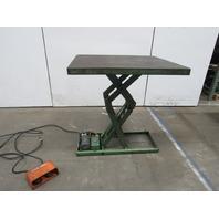 """American M-1070-A 2000Lb Hydraulic Scissor Lift Table 42x36"""" Top 6-44"""" Lift 115V"""