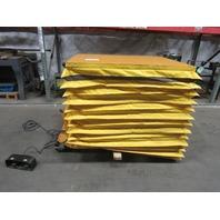 "Econo PA36-10 1000LB 115V Scissor Lift Table 48x36"" Top 11-46"" Lift W/Casters"