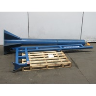 Gorbel 1/4 Ton 500LB Free Standing Jib Crane 6' Span 8' Trolley Clearance