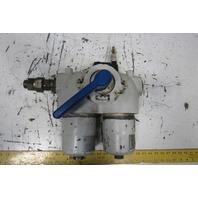 Mahle P1 3715-15-NBR Hydraulic Modular Duplex Line Filter W/Bypass