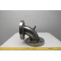 """3"""" 4 Bolt Flange Mount Stainless Steel Elbow 150 Class"""