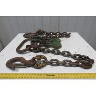 """Gunnebo 3/4"""" 49,000#  2 Leg Chain Sling Grab Hook Chain Shortener 6'8"""" GR-80"""
