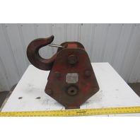 "McKissick M010S10L-S 10"" 10 Ton Single Groove Sheave Crane Block W/ Safety Hook"