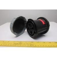 Leviton 460R5W Pin & Sleeve Watertight Receptacle, 60A, 600V, 3PH, 3P 4W