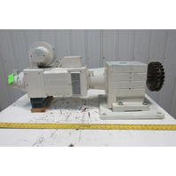 Lenze GST09-2N VBR 1F 14:1 RPM 420V DC 11.40kW Gear Reducer Motor Package