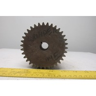 "Ramsey 296274-A 34T 4"" Pitch Diameter 34T 2"" Wide Timing Belt Sprocket 3/4"" Bore"