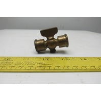 "3/8""NPT Female Brass Pet Cock Stop Cock Shut off Valve"