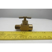 "1/4""NPT Male To Female Brass Pet Cock Shut off Needle Valve"