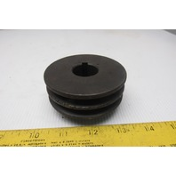 "Browning 2F3V31X1 2 Groove 3V 3.15OD 1"" Bore Belt Pulley"