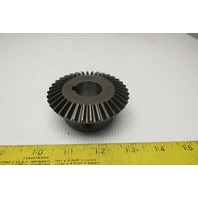 "Boston Gear HL152YG 2:1 36T Straight Tooth 1"" Bore 20° Pressure Angle Bevel Gear"