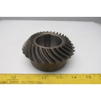 A84L 204.7503 28T Left Hand Spiral Bevel Gear 82.15 50mm Bore