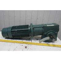 Baldor P18A7204N 35S10R 10:1 Ratio 175RPM 5Hp 208-460V Gearmotor With Brake