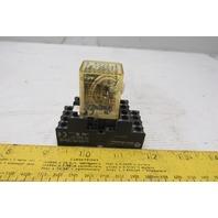 Idec RY45-ULC Relay W/Base 24VDC Coil
