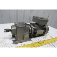 Sew R37DT80N4 DFT80N4 4.32:1 Ratio 1Hp 230YY/460Y Inline Helical Gearmotor