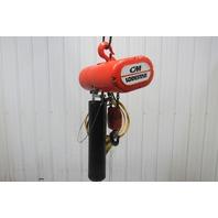 CM Lodestar RR 2 Ton 2Hp Electric Chain Hoist 208-230/460V 3Ph 19' Lift 16FPM