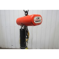 "CM Lodestar Model L 1 Ton Electric Chain Hoist 20' 4"" Lift 16FPM 208-230/460 3Ph"