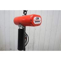 "CM Lodestar Model L 1Ton Electric Chain Hoist 20' 10"" Lift 16FPM 208-230/460 3Ph"