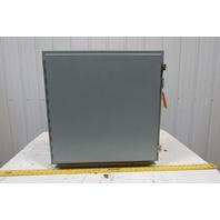 "Hoffman A-242408LP 24""x24""x8"" Wall Mount Electrical JIC Enclosure w/Backplate"
