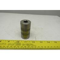 "Dorner 3370-16-12 1/2"" x 3/8"" Hex Helical Flexible Shaft Coupling"