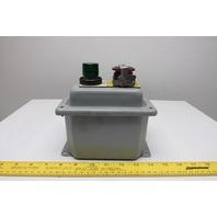 Hoffman E-D2PBX 2Push Button Enclosure 30.5mm 5.75 X 4.00 X 3.75 W/Buttons