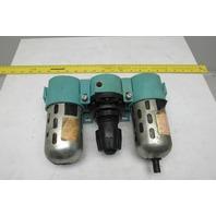 "Wilkerson R26-04-000A  1/2""NPT Filter regulator lubricator 0-125 PSIG Pneumatic"