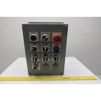 Hoffman E-12PB Control Panel Enclosure W/Allen Bradley Switches