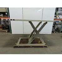 "4000Lb Hydraulic Scissor Lift Table 96""x60"" Top 7""-65-3/4"" Lift 460V 3Ph"