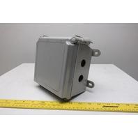 "Hoffman A664CHQRFG Hinged Door Fiberglass Electrical Enclosure 6""x6""x4"""