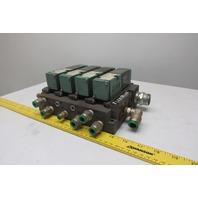 Numatics 082SA415M000061 4/2 Position Solenoid Directional Air Valve Manifold